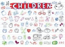 Children icon set Stock Photography
