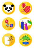 Children Icons. Vector children icons on white background vector illustration