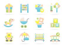 Children Icons Stock Images
