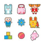 Children icons royalty free stock photo