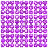 100 children icons set purple. 100 children icons set in purple circle isolated on white vector illustration stock illustration