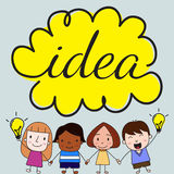 Children with idea concept Stock Image
