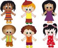 Children illustration. Illustration of children of different nationalities stock illustration