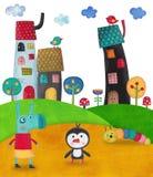 children illustration Royaltyfri Bild