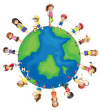 Children. Illustration of children all around the world vector illustration