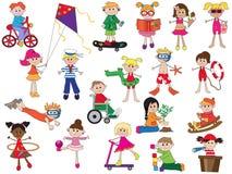 Children. Illustration of some children isolated stock illustration