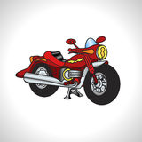 Children illustration technique motorcycle Royalty Free Stock Images