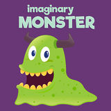 Children Imaginary Slug Monster Royalty Free Stock Photo