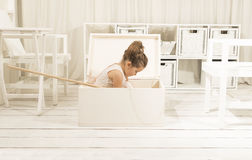 Children imagination or creativity concept Stock Image