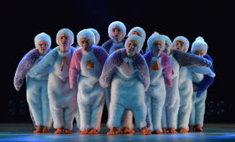 Free Children In A Suit Of Penguins Dance On A Stage, Children`s Danc Royalty Free Stock Images - 92660599