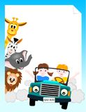 Children In Car With Animals Stock Photos
