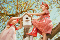 Children In Garden Royalty Free Stock Images