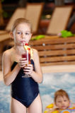 Children In Swimming-pool Royalty Free Stock Photo