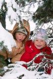 Children In Winter Park Stock Images
