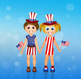 Children Independence Day Stock Photography