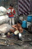 Children at Indian slum Royalty Free Stock Photos