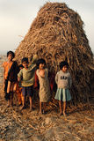 Children of the Indian Village Stock Image
