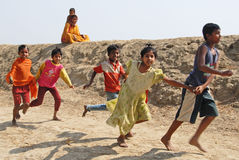 Children of the Indian Village Stock Photos