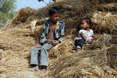 Children of the Indian Village Stock Photography
