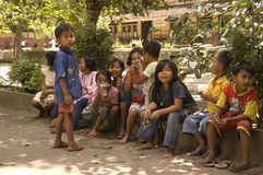 CHILDREN OF INDONESIA POPULATION Royalty Free Stock Photo