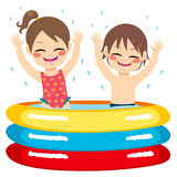 Children Inflatable Pool Stock Photos