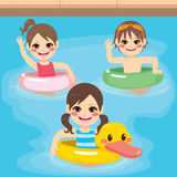 Children Inflatable Swimming Stock Images