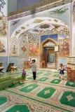 Children inside of Mausoleum of Harun Vilayat, Imamzadeh Haroun-e-Velayat in Imam Ali Square in Isfahan. Iran. Isfahan, Iran - March 21, 2018: Iranian children stock photography