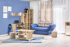 Children interior of a modern living room in color. With details Royalty Free Stock Images