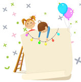 Children invitation Royalty Free Stock Photo