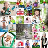 Children are involved in sports Royalty Free Stock Photos