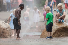 Children at Iowa State Fair Royalty Free Stock Images
