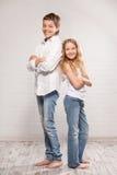Children in jeans Stock Photos