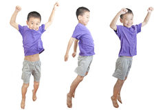 Children jumping Royalty Free Stock Photos