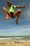 Children jumping Stock Images