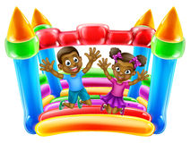 Children Jumping on Bouncy Castle Royalty Free Stock Image