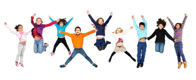 Children jumping Stock Image