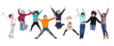 Children jumping Stock Image