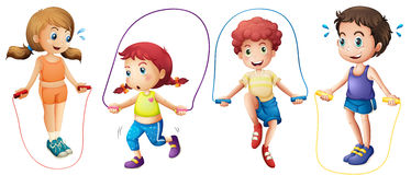 Children and jumprope Royalty Free Stock Photos