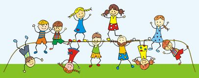 Children on a jungle gym Stock Photography