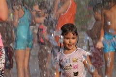 Children in Kadıköy Göztepe 60th year park royalty free stock photography