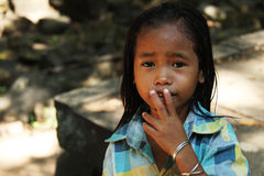 The children in Kampuchea Stock Images