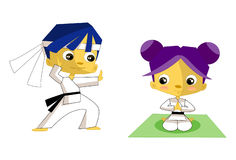 Children karate Stock Images