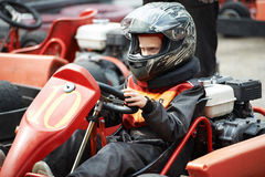 Children karting Stock Image