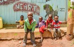 Children of Kibera Slum in Nairobi,Kenya Royalty Free Stock Images