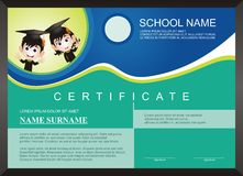 Children - kid diploma - certificate Template with modern design Royalty Free Stock Photography