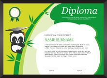 Children - kid diploma - certificate Template with modern design Royalty Free Stock Photos
