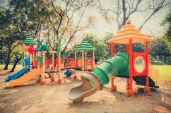 Children kid playground for kindergarten and elementary student Stock Photo