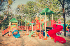 Children kid playground for kindergarten and elementary student Royalty Free Stock Photos