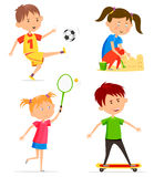 Children or kids activity at playtime Royalty Free Stock Photography
