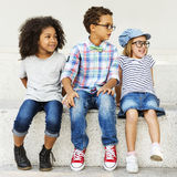 Children Kids Casual Offspring Adorable Youth Concept Royalty Free Stock Photo
